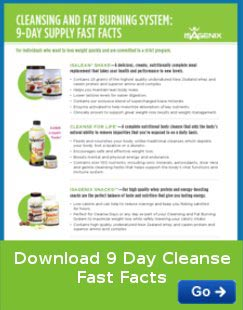 IsaGenix 9 Day cleanse fast facts