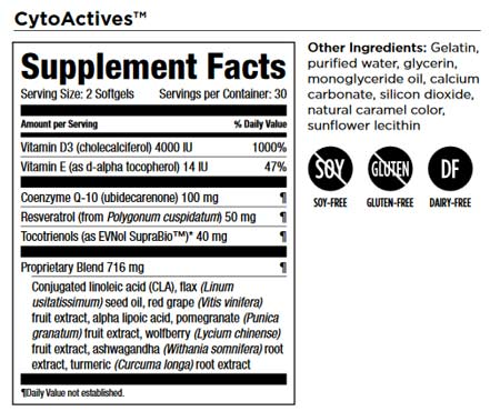 Isagenix CytoActives Ingredients