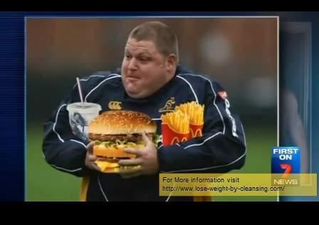 Matt Dunning before losing 45kg